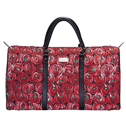 (Charles Rennie Mackintosh Rose and Teardrop Art Nouveau Duffle Bags for Women/Hand Luggage for Women by Signare/BHOLD-RMTD)