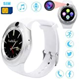 Highpot Smart Watch Camera and SIM Card Slot Pedometer Activity Tracker for Android (White)