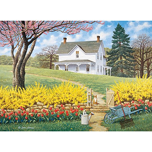 Bits and Pieces - 500 Piece Jigsaw Puzzle -Spring Ahead - Scenic Spring - by Artist John Sloane - 500 pc Jigsaw