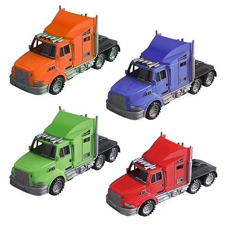 Amazon com: Mozlly Friction Powered Semi Truck, 9 Inch Car