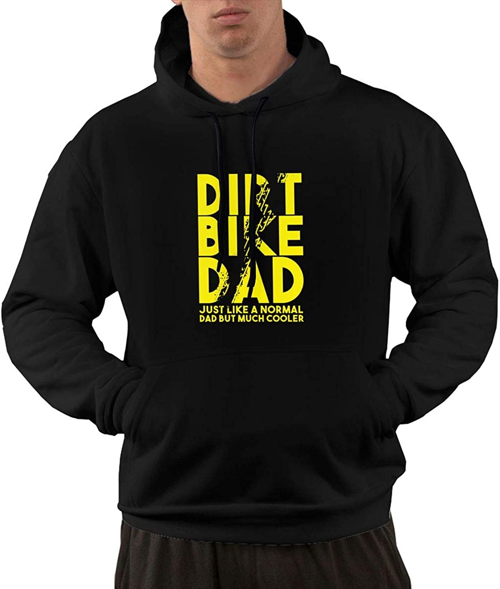 Gjdv Dirt Bike Dad Motorbikes Bikers Mens Front Pocket Pullover Cotton Hoodie Sweatshirts