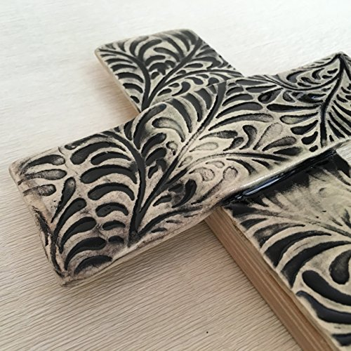 JANECKA Black Design Cross, 6.25 x 10 inches