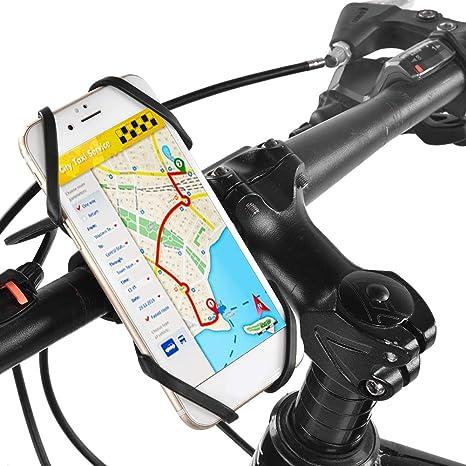 Alomejor Soporte para Teléfono De Ciclismo Soporte De Teléfono para Bicicleta De Gel De Sílice: Amazon.es: Deportes y aire libre