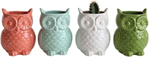 Stoneware Owl Shaped Magnetic Vase, Set of 4