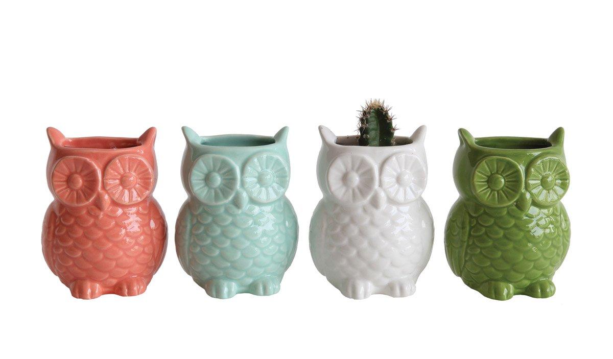 Amazon.com: Stoneware Owl Shaped Magnetic Vase, Set of 4: Home & Kitchen