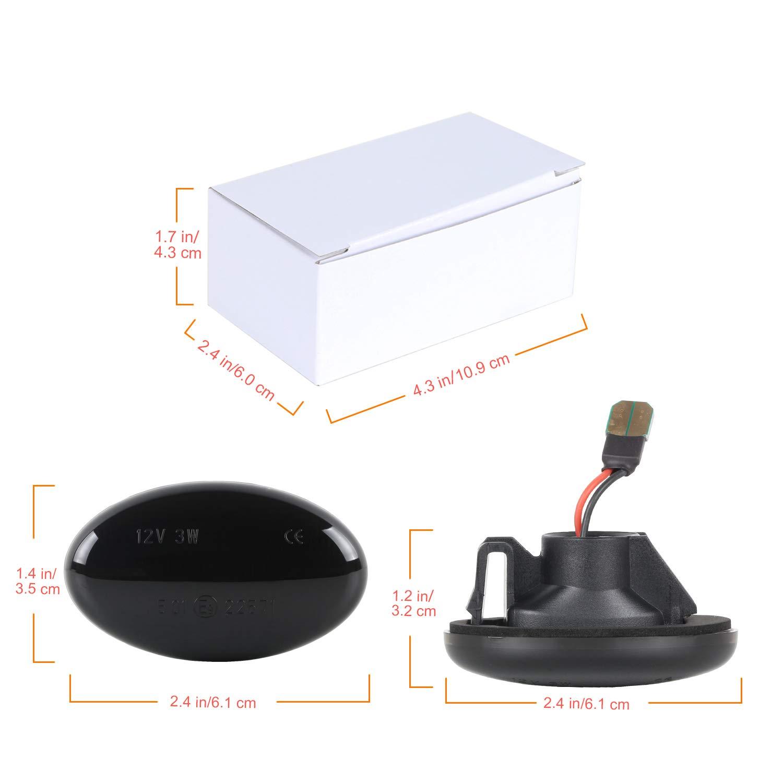 Dynamische Seitenblinker Gempro Blinker Flie/ßende Seitenblinker Smoke F/ür Smart W450 /& W452 A-Klasse W168 Citan W415 Vito W639 Vito W447