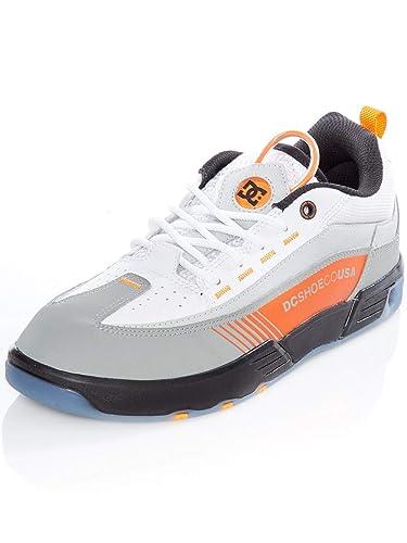 ef37be61cd DC Black-White-Orange Legacy 98 Slim Shoe  Amazon.co.uk  Shoes   Bags