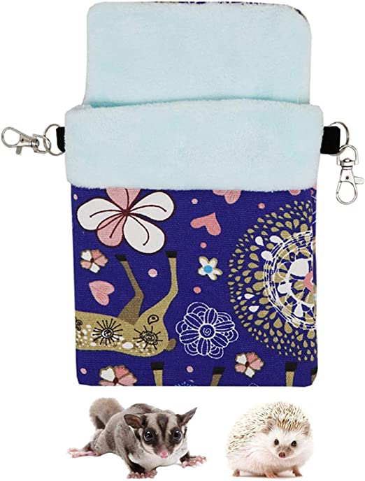 Small Pets Sleeping Pouch Bag Warm Nest Bed for Hamster Rat Sugar Glider Squirrel