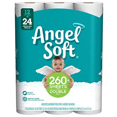 Angel Soft Toilet Paper, 12 Count