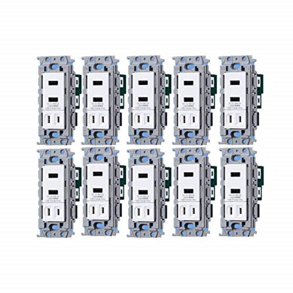 【ネット限定】 パナソニック(Panasonic) B07JNZCVQM ワイド埋込充電用USBコンセント2ポート WTF14724W【10個入り WTF14724W】【純正パッケージ品】 B07JNZCVQM, らぐー:25a2328a --- a0267596.xsph.ru