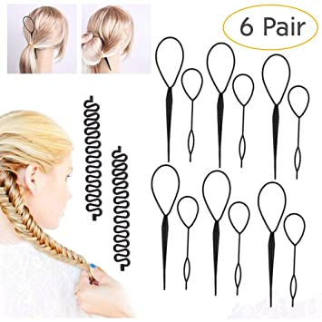 Braid Maintenance Fashion Women Lady Roller Hair Twist Styling Clip Stick Bun Maker Braid Tool Locks Weaves Hair Accessories Beauty & Health