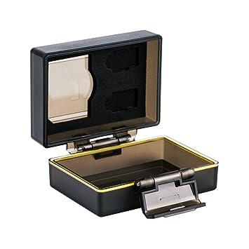JJC Batería Multifunción y Estuche de Memoria Compatible con la Batería Canon LP-E6, LP-E6N or JJC B-LPE6 Battery and 1 x SD, 2 Micro SD Tarjetas