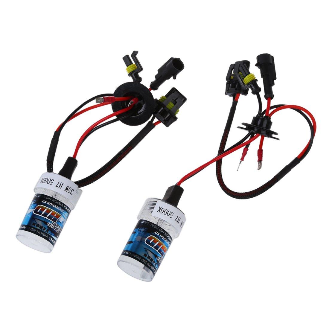 Sonline 2X Xenon HID Kit Car Auto lampadina del faro della luce della lampadina Per H7 35W DC 12V H7-5000K