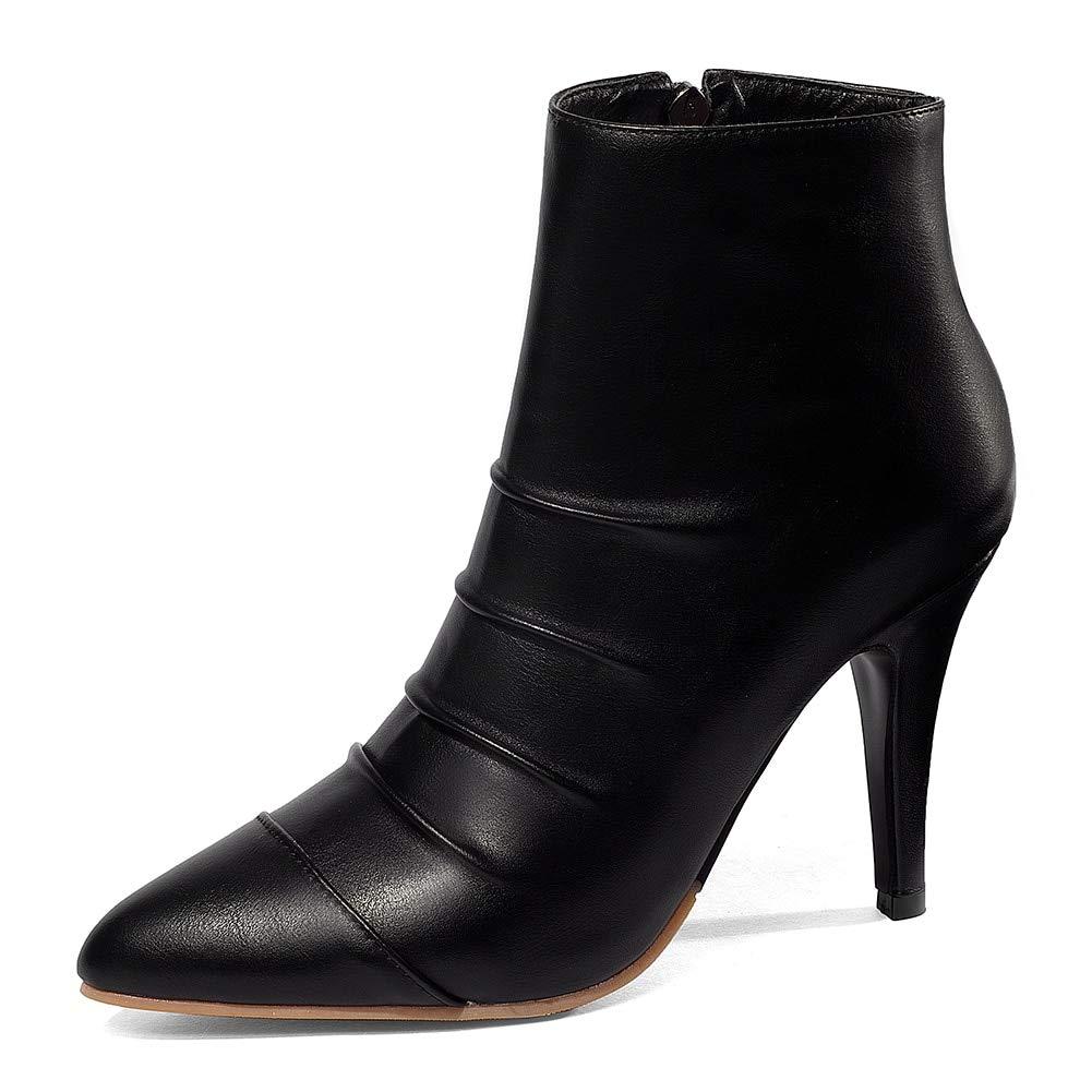 HOESCZS Plus Größe 28-52 maßgeschneiderte Partei Frauen Stiefel Frau Schuhe Spitz High Heels Stiefeletten Schuhe Frau,