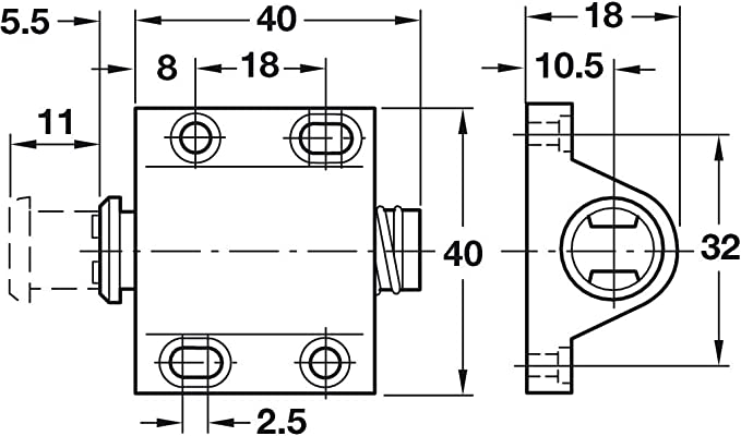 Pestillo magnético de presión para abrir el pestillo táctil para puertas de armario de cocina + placa x2: Amazon.es: Bricolaje y herramientas