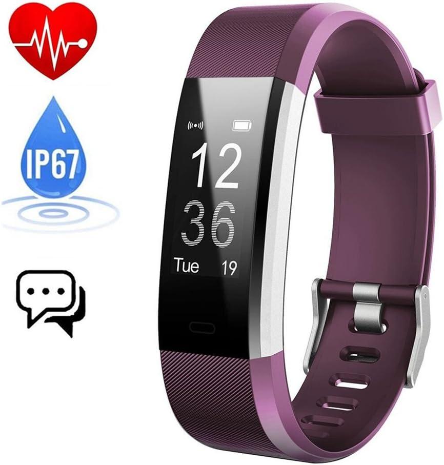 iPosible Pulsera Actividad Monitor de Frecuencia Cardiáco Pulsera Reloj Inteligente con Pulsómetro Impermeable Podómetro Monitor de Ritmo Cardíaco Monitor de Sueño GPS para Hombre Mujer Niños