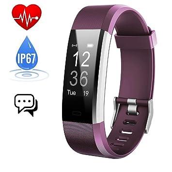 iposible Montre Connectée, Podometre Smartwatch Bracelet Connecté Étanche IP67 Fitness Tracker dActivité Cardiofréquencemètre