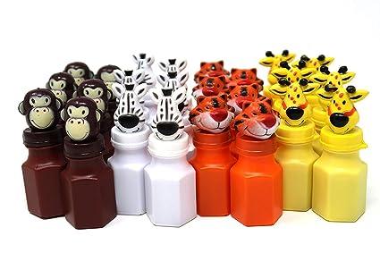 Amazon.com: 4E - Juego de 24 figuras de animales de zoo ...