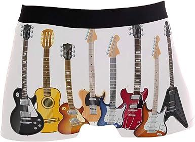 Mens Boxer Brief Electric Guitar Bass Mens Underwear Regular Leg Boxer Brief