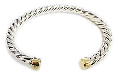 0d8b7638e8bb92 Image Unavailable. Image not available for. Color: DAVID YURMAN Men's Cable  Classic Cuff Bracelet w/ 18K Gold ...