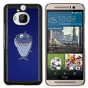 "Be-Star Único Patrón Plástico Duro Fundas Cover Cubre Hard Case Cover Para HTC One M9+ / M9 Plus (Not M9) ( Divertido Troll Lol Tiburón"" )"