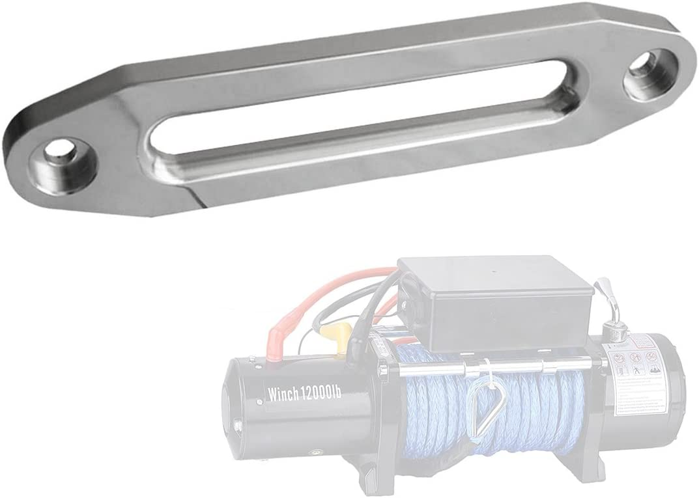 BLACK BIZ Aluminum Hawse Fairlead for 8000-17000lbs Atv//Utv Synthetic Winch Rope Cable
