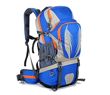 Mochila al aire libre 50L Impermeable Profesional Bolsa de Montañismo Hombres Senderismo Deporte paquete , Blue: Amazon.es: Deportes y aire libre