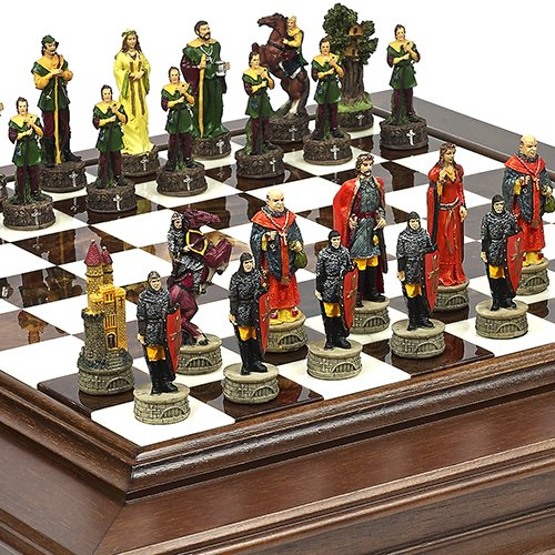 品質一番の Robin Hood & & The Hood Sheriff of Nottingham Chessmen & B01HLLF096 Alabastro Luxuryチェスボード/キャビネットイタリアから B01HLLF096, UNIT-F:50f98899 --- turtleskin-eu.access.secure-ssl-servers.info