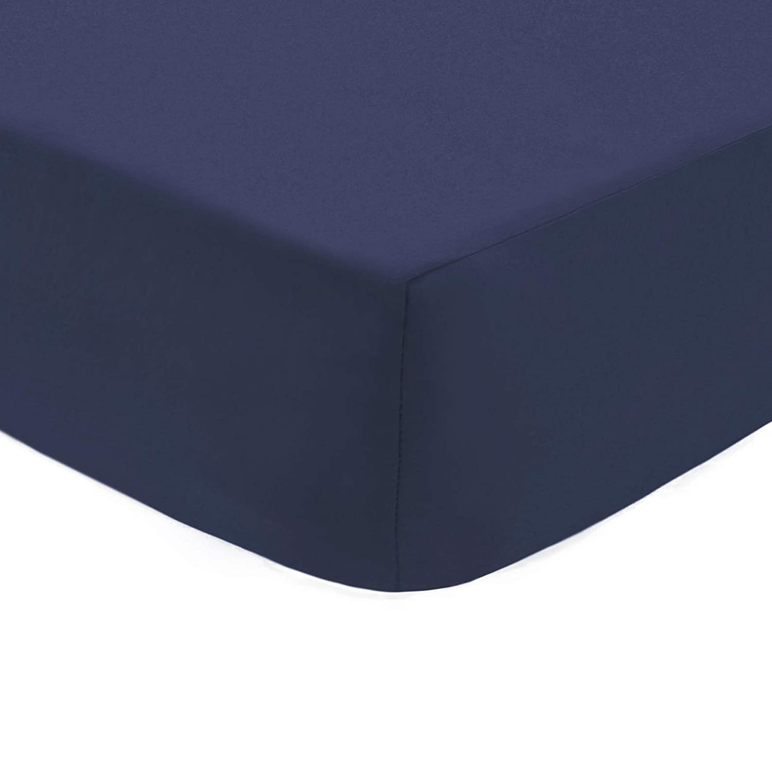 American Baby Company 100% Natural Cotton Percale Fitted Crib Sheet for Standard Crib and Toddler Mattresses, Navy, Soft Breathable, for Boys
