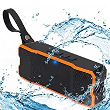 Bluetooth Speakers, Waterproof Speaker Portable Wireless with Subwoofer, Loud Stereo Speakers with 60 Days Standby for iPhone Samsung phones by Ayoki (Orange)