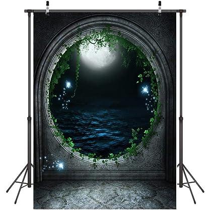 Fondo para Fotografia Ventana, la Luna, el mar Fondo ...