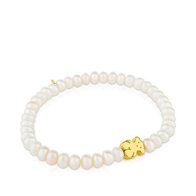 642b70ae1a98 Pulsera elástica TOUS Sweet Dolls en oro amarillo de 18kt y perlas  cultivadas de agua dulce