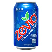 24-Pack Zevia Zero Calorie Cola-flavored Carbonated Soda 12Oz