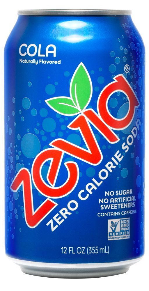Zevia Zero Calorie Soda, Cola, Naturally Sweetened Soda, (24) 12 Ounce Cans; Cola-flavored Carbonated Soda; Refreshing, Full of Flavor, and Delicious Natural Sweetness with No Sugar