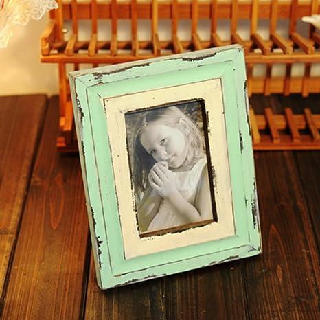 DHWJ Marco de Fotos Madera Vintage, Portaretrato Minimalista Creativa-B 15.3x20.3cm