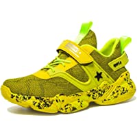 Zapatillas Unisex Niños de Deporte Velcro Ligero Transpirables Trainers para Exterior Interior