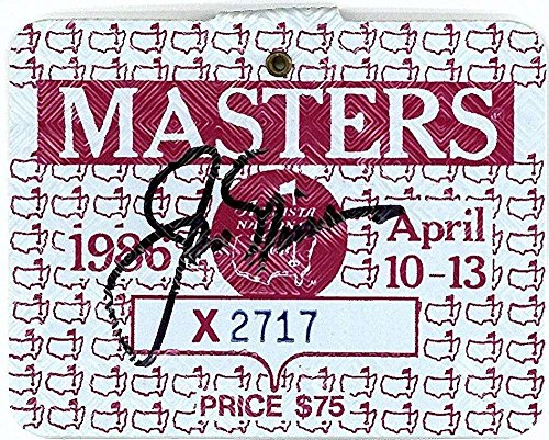 Jack Nicklaus Signed Autographed 1986 Masters Golf Badge Win Authentic - JSA Certified - Autographed Golf Equipment (1986 Nicklaus Autographed Masters Jack)