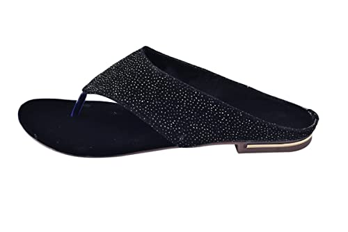 f390ffb3ad85 Elle Wings Black Slippers for Women s and Girls-39  Buy Online at ...
