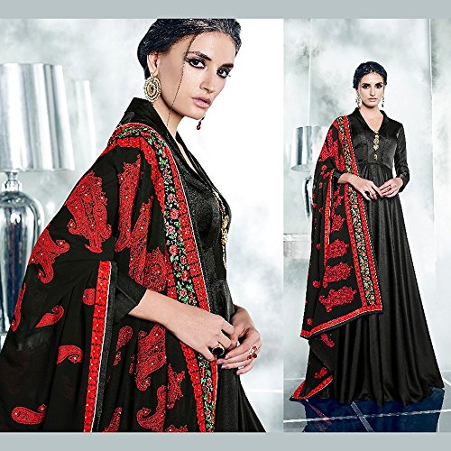 Da Facioun Readymade Indian Women Designer Partywear Ethnic Traditonal Dress. Da Facioun Design Ready-made Femmes Indien Partywear Ethnique Robe Traditionelles. Black 6 Noir 6