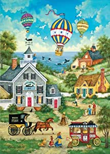 """Masterpieces Jigsaw Puzzle World's Smallest Tin 1000 Pieces 11.5""""x16.5""""-The Whale Watchers"""