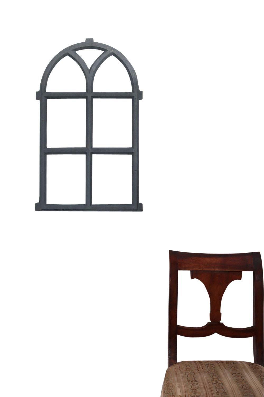 Stallfenster Fenster Scheunenfenster Eisen grau 40 x 68cm Antik-Stil