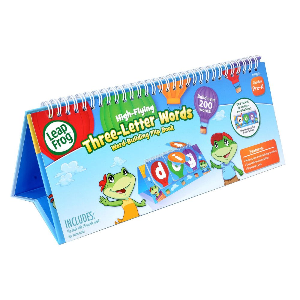 Amazon.com: Leap Frog High-flying Three-letter Words Dry Erase Flip Book:  Toys & Games
