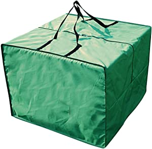 Yolaka Outdoor Patio Furniture Seat Cushions Storage Bag with Zipper and Handles 32x32x24 Inches Waterproof Green