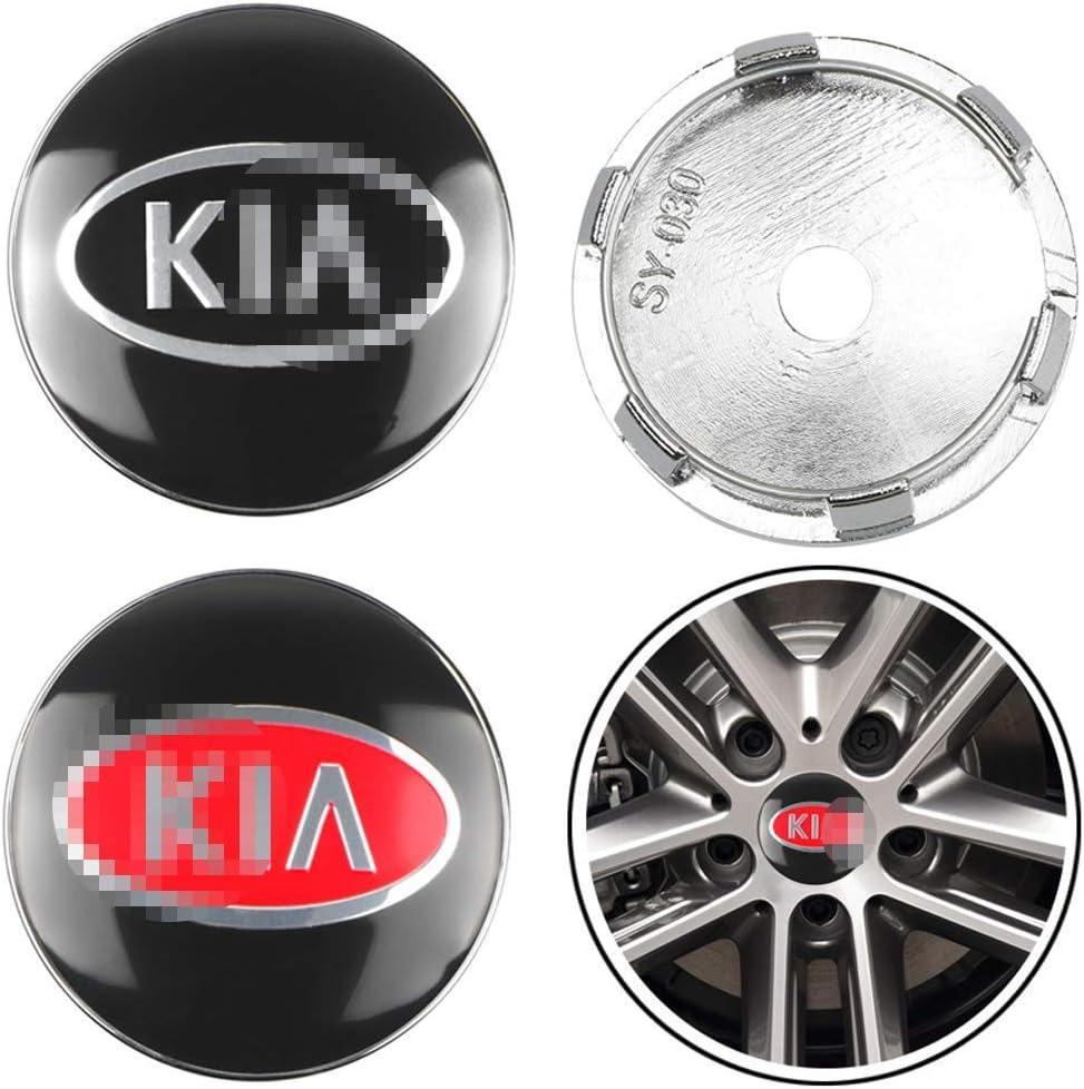 For KIA Rio ceed sportage sorento k2 k3 k4 k5 mkqqq135 4Pcs 60mm Car Wheel Center Hub Caps Center Cover Emblem Badge Dust-Proof Cover