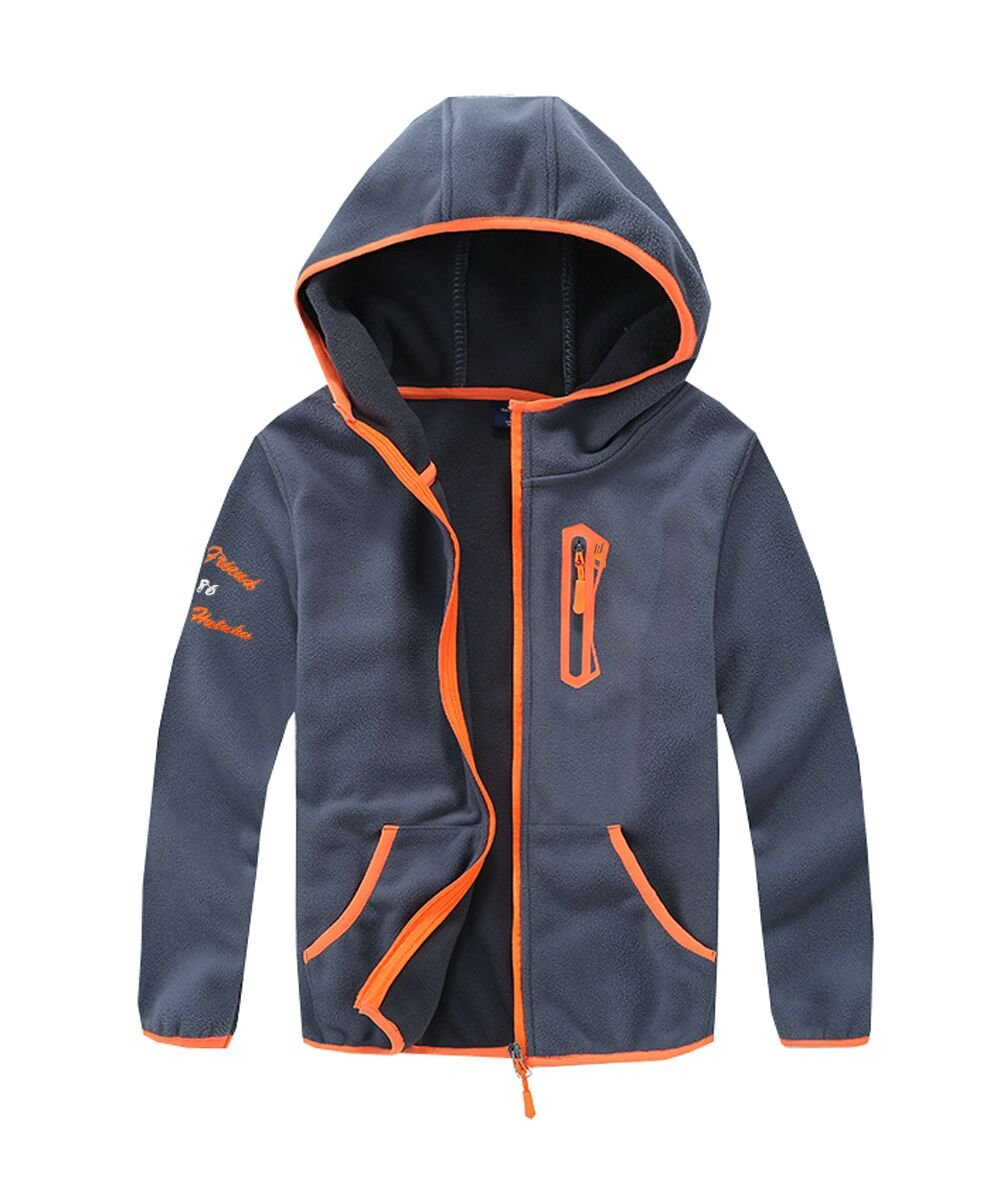 M2C Boys Soft and Cozy Full Zip Polar Fleece Hoodie Jacket 4T Light Gray