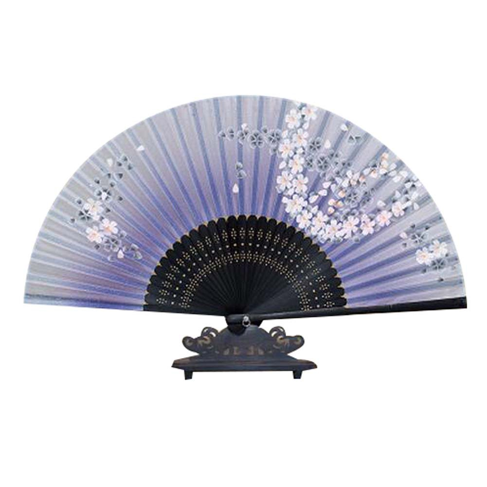 Panda Superstore Women¡¯s Retro Fabric Fan Handmade Handheld Folding Fan for Protection for Gift