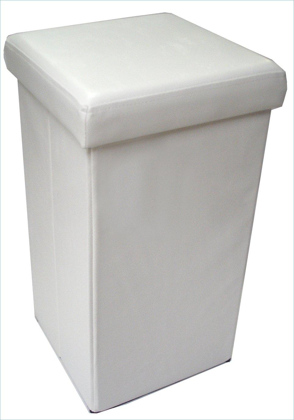 Pouf contenitore richiudibile in ecopelle 32x32x60 cm Biscottini