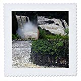 Sandy Mertens Hawaii Travel Designs - Wailuku River Basin and Rainbow Falls Montage at Hilo, Hawaii - 14x14 inch quilt square (qs_232767_5)