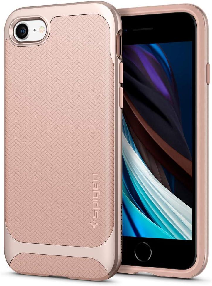Spigen Neo Hybrid Designed for iPhone SE 2020 Case/Designed for iPhone 8 Case (2017) / Designed for iPhone 7 Case (2016) - Pale Dogwood