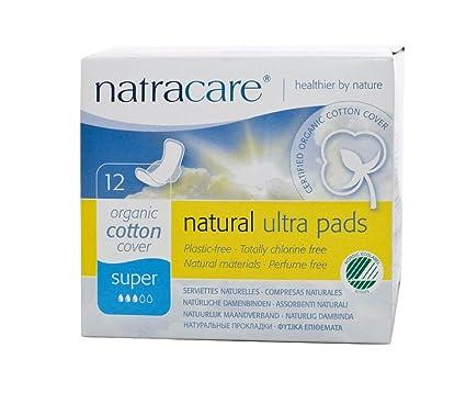 Natracare orgánicos y naturales Ultra Super Pad con alas – 12 x Packs de 12 almohadillas
